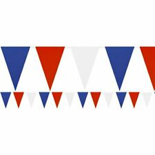 ENGLAND GB Party Banner Decoration Great Britain Plastic Red White Blue 7M Long