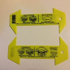2 X Crab Measure- ruler MEASURES QLD SAND CRAB AND MUD CRABS D2011x2F