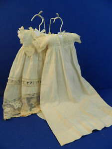 UFDC 332-2020  Two white baby dresses for dolls 1914