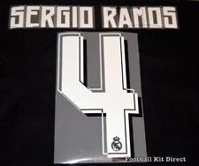 Real Madrid Sergio Ramos 2015/16 Camiseta De Fútbol Nombre/Número Conjunto de Distancia Reproductor De Tamaño