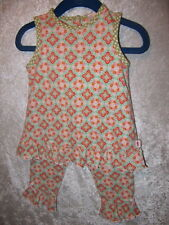 Icky Baby Ruffled Retro Floral Print Outfit, 12 mos.