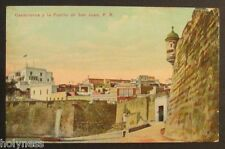 ANTIQUE POSTCARD / LA PUERTA DE SAN JUAN PUERTO RICO / LEIBIG S.J. P.R. / 1910's
