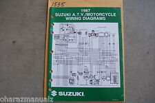 1987 Suzuki Motorcycle & Atv Wiring Diagrams Manual