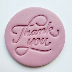Thank You - T01 Embosser Stamp Fondant Cupcake Icing Cookie