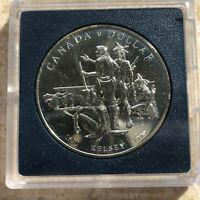 Canada 1990 Henry Kelsey Tricentennial Specimen UNC Silver $1 Dollar