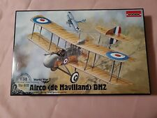 VINTAGE RODEN WW1 AIRCO DE HAVILLAND DH2 1:32 SCALE PLASTIC MODEL KIT