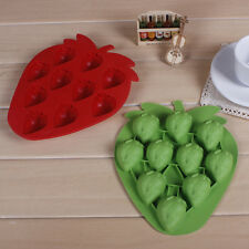 DIY Strawberry Cake Mold Soap Flexible  Mould For Candy Chocolate Cake O