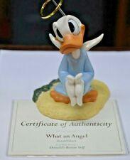 "WDCC Disney ""What an Angel"" Donald Duck Donald's Better Self COA"