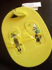 LITTLE MARC JACOBS BOYS FLIP FLOPS, CARRY CASE & KEYCHAIN EU 23 -UK 6 YELLOW NEW
