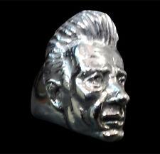 Stainless Johnny Cash Ring Custom Siz Handmade Man in Black Country Music R180ss