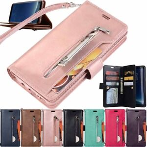 Zipper Leather Wallet Card Holder Case Cover For Huawei P20 P30 Pro Mate 10 Lite