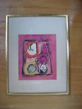 VINTAGE 1957 MARC CHAGALL MOURLOT MAEGHT LITHOGRATH INTERIOR PARIS FRENCH FRAMED