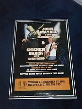 JOHN MAYALL AND STAN WEBB SIGNED POSTER