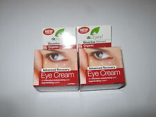 2 x 15ml DR ORGANIC Organic Pomegranate EYE CREAM / Anti Wrinkle Cream