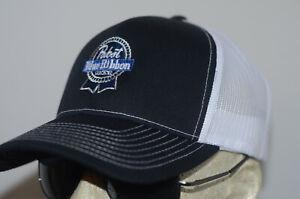 Pabst Blue Ribbon Hat Beer Trucker Vintage Logo Washington PBR Shirt Rainier DC