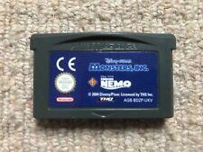 Monsters Inc & ALLA RICERCA DI NEMO Doppio Pack-CART SOLO Game Boy Advance GBA