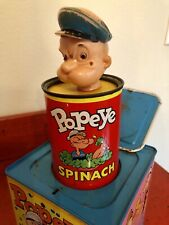 Vintage Popeye Jack In The Box Litho Toy