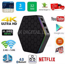 T95Z Plus S912 3GB/32GB Octa Core Android 7.1 Smart TV Box 2.4ghz/5ghz wifi 4K