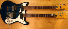 Vintage 1966 Mosrite 'Joe Maphis' Style Double Neck Electric Guitar (Blue)