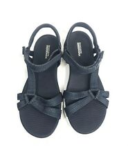 NEW Woman's Navy Blue SKECHERS GOGA MAX Ankle Strappy Sandals Water Shoes Sz 10