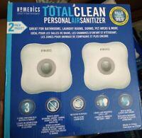 Homedics Total Clean Personal Air Sanitizer 2 Pack