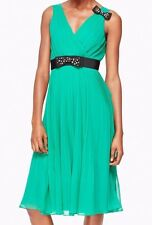 NEW Kate Spade Embellished Bow Dress in Emerald Ring Green w/ Gems Size 10 $448