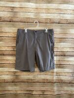 Lululemon Athletica Mens Grid Check Gray Black Flat Front Chino Shorts 38 Slim