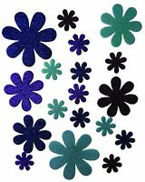 Craftime Boutique Self-Adhesive flowers are ideal for paper craft project, Blue