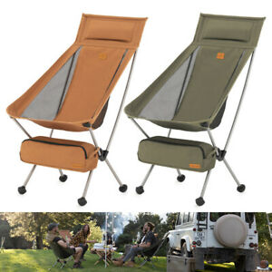 Ultralight High Back Folding Camping Chair With Headrest Outdoor Backpacking AU