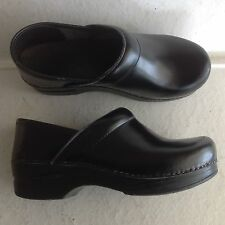 Ladies Black Leather Dansko Professional Clogs Shoes Size 36 5.5 - 6 Italy