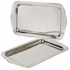 Stainless Steel Serving Tray Food Platter Dinner Salver Silver Effect Polished
