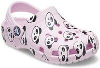 Crocs Kids Classic Panda Print Clog Ballerina Pink