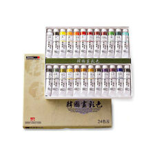 Korean Watercolor Paint Shinhan Professional Set 24 Colors A 20ml Tube