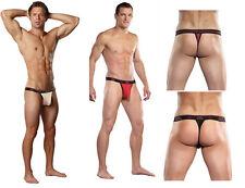 Male Power men's herringbone lace micro thong sheer underwear 433-170