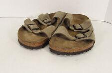 Birkenstock Mens Arizona Sandals, Taupe Suede, EU 50 / US 17-17.5 M