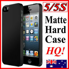 Rubberized Strong Hard Case Cover For iPhone 5 5th Gen(BLACK,HQ Slim Matte Skin)