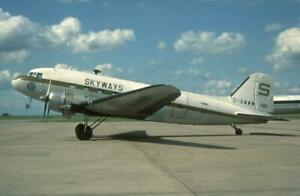 35mm Aircraft Slide Skyways Coach Air G-AMWW Douglas C-47 Skytrain
