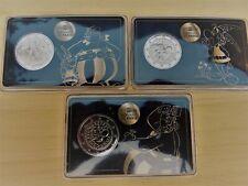 """France 2019 lot de 3 coincards différentes 2€ """"Astérix, Obélix, Idéfix """""""