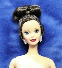 Nude brunette Barbie beautiful bridal updo hair superstar face just deboxed
