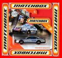 MATCHBOX 2020  FORD POLICE INTERCEPTOR    28/100   NEU&OVP