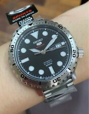 SRPC61J1 Automatic Black Day & Date Dial Silver Steel Japan Made