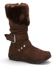 QQ Bella Fashion Faux Fur Boots Toddler Girls Size 5 Brown NEW