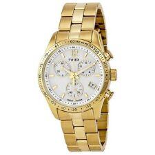 Timex T2P058, Women's Ameritus Goldtone Chronograph Bracelet Watch, Indiglo