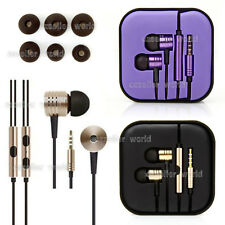 Earphone 3.5mm Earbuds In-Ear & Mic Remote Wire Control Black for Xiaomi Android