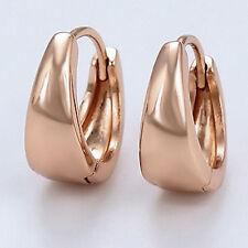 9ct Rose Gold Filled Small Creole Huggie Hoop Earrings Ladies Womens Gift UK -68