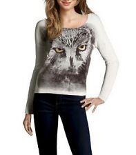 THE KOOPLES merino wool OWL pull sweater jumper maglia maglione donna gufo M NWT