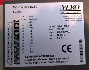 """Vero Monovolt EC50  5V / 8A 19"""" Einschubnetzteil"""