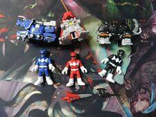 Mighty Morphin Power Ranger Imaginext Battle Armor Lot of Figures Blue Red Black