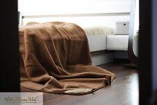 100% Manta Lana De Merino camello, Manta 200 x 200cm woolmark REGALO PERFECTO