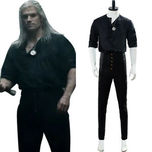 Geralt of Rivia Cosplay Costume Casual Wear Uniform Halloween Outfit